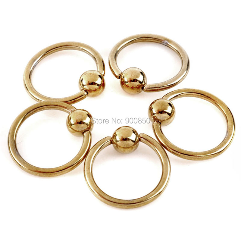 1pcs Gold Stainless Steel Sexy Eyebrow Nose Lip Ear Ring Tragus