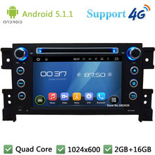 Quad Core 7″ 1024*600 2Din Android 5.1.1 Car DVD Player Radio Stereo USB FM DAB+ 3G/4G WIFI GPS Map For Suzuki Vitara 2005-2011