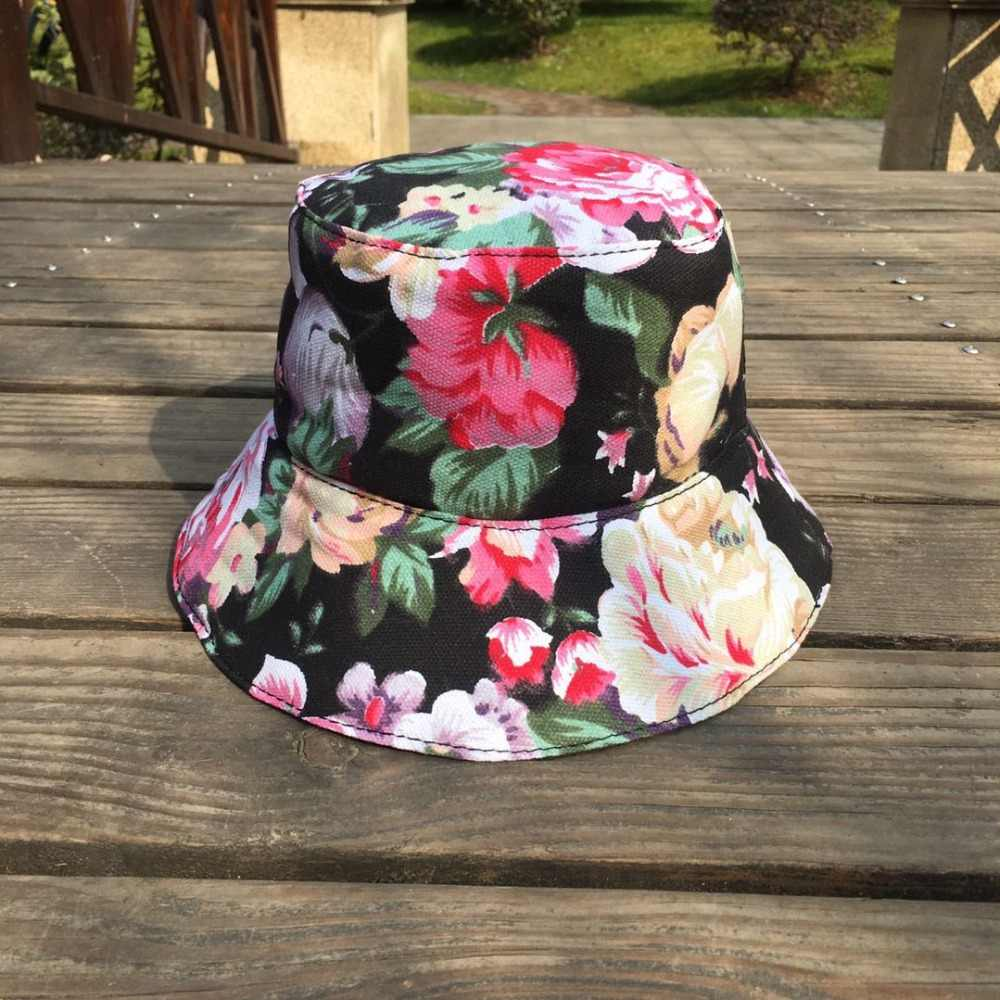 66955f44b055fc Detail Feedback Questions about Flower Bucket Hat Hip Hop Hawaii Cap ...