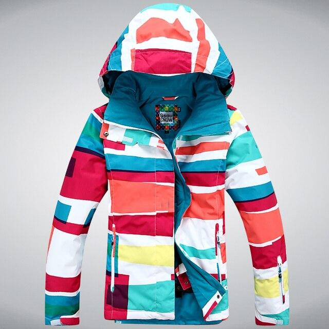 GSOU SNOW New winter ski jacket women snowboard jackets women ski ...