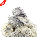 Majestic Feathers Rings With Clear Cubic Zirconia 100% 925 Sterling Silver Fashion Jewelry Free Shipping