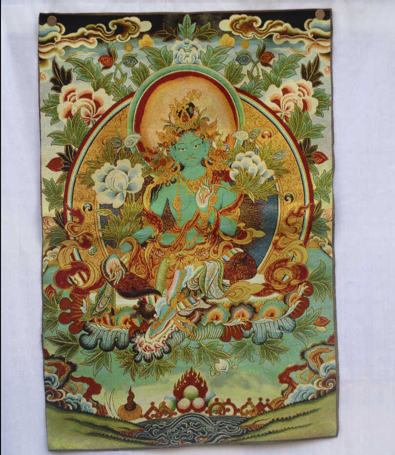 Collectible Traditional Tibetan Buddhism in Nepal Thangka of Buddha paintings ,Big size Buddhism silk brocade painting  p002655
