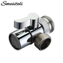 Hot Sale Polished Chrome Brass Diverter for Kitchen Sink Faucet Replacement Part Bathroom Shower Basin Faucet Spout M22 X M24 wholesale and retail promotion polished chrome brass square waterfall spout bathroom tub faucet w hand shower
