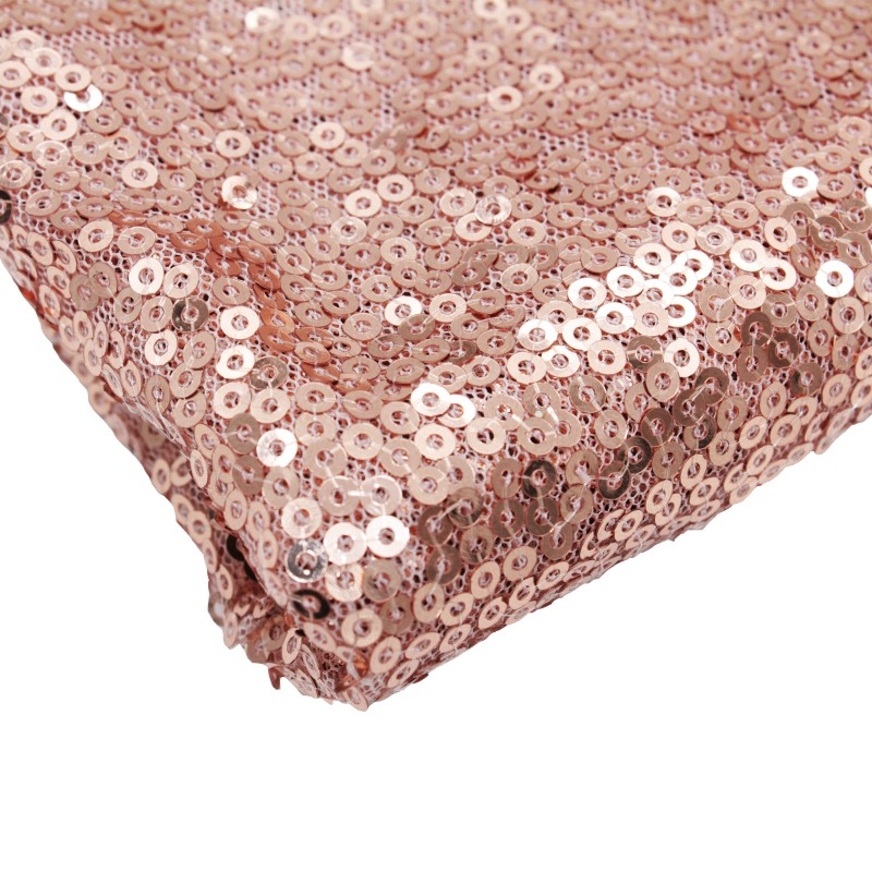 1pcs 12x108 Rose Gold Champagne Sequin Table Runner 30x275cm Sparkly Wedding Party Decor