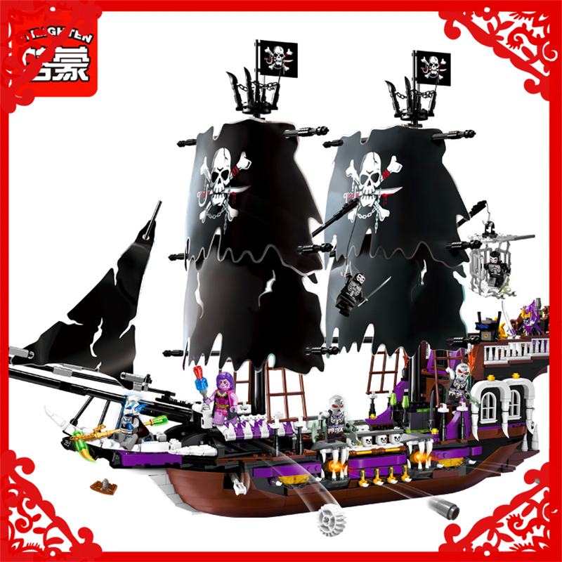 LEPIN WC150 1539Pcs Bricks Building Blocks Caribbean Pirate Ship DIY Figure Educational Assemble Toy Gifts For Kids lepin 22001 1717pcs pirate ship imperial warships model building blocks toy compatible with legoe pirates caribbean 10210