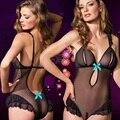 Сексуальное женское белье горячих женщин черный Перспектива Марли тедди sexy открыть кротч бюстгальтера женское белье lenceria сексуальный костюм эротическое белье