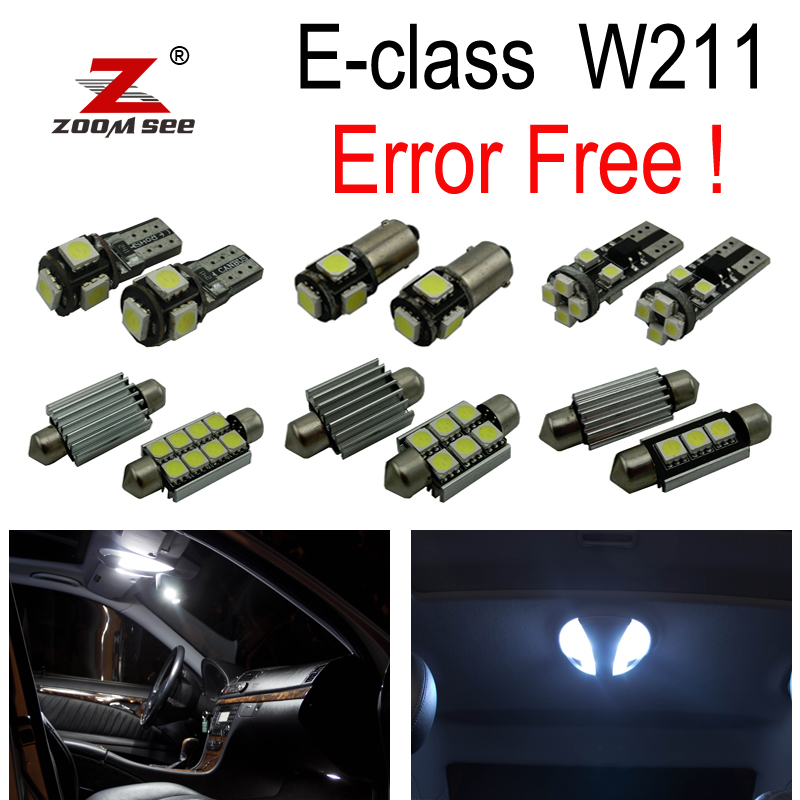 25pc X Error free LED Lamp Interior Dome Map Light Kit For Mercedes Benz E class W211 E320 E350 E430 E500 E55 AMG (2002-2008) auto fuel filter 163 477 0201 163 477 0701 for mercedes benz