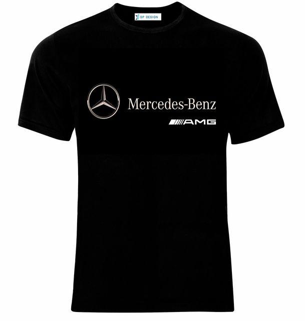 Mercedes Benz Apparel: Mercedes Benz AMG Logo Auto Cars Manner Printed T Shirt
