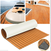 Teak Sheet 240cm x 60cm x6mm Marine Floor EVA Foam Boat Sheet Teak Decking Self Adhesive Mat