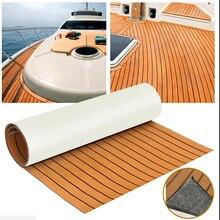 Hoja de teca de 240cm x 60cm x 6mm, suelo marino, hoja de espuma EVA para bote, cubierta de teca, esterilla adhesiva automática