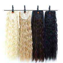 Synthetic Ponytail Pony Tail Heat Resistant DIFEI Claw and Ribbon Drawstring Ponytails Long Wavy Curly Ponytail For Women(China)