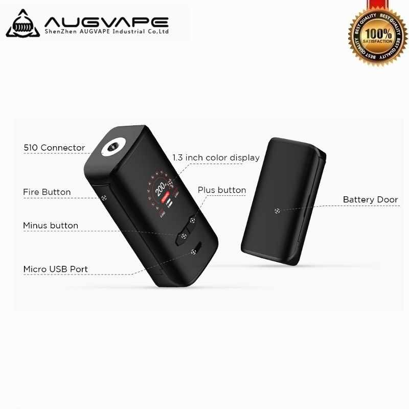 Augvape VX200 200 W TC коробка современные модели парогенераторов коробка работает на Двойной 18650 Батарея испаритель VS Voopoo перетащите 2 батарейные блоки электронных сигарет