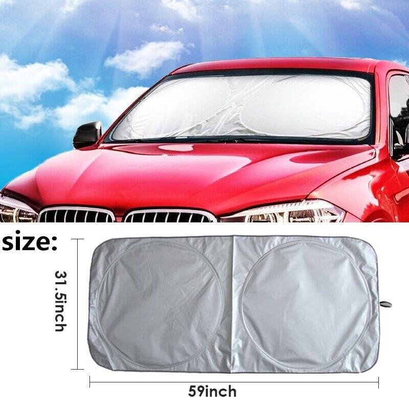 Vehemo 150*80 Car SunShade Auto Sun Visor SunShade กระจกสำหรับพลังงานแสงอาทิตย์ขนาดใหญ่พับรถสำหรับรถบรรทุก