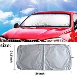 Vehemo 150*80 Car SunShade Auto Sun Visor SunShade Windshield for Solar Protection Large Foldable Vehicle for Truck