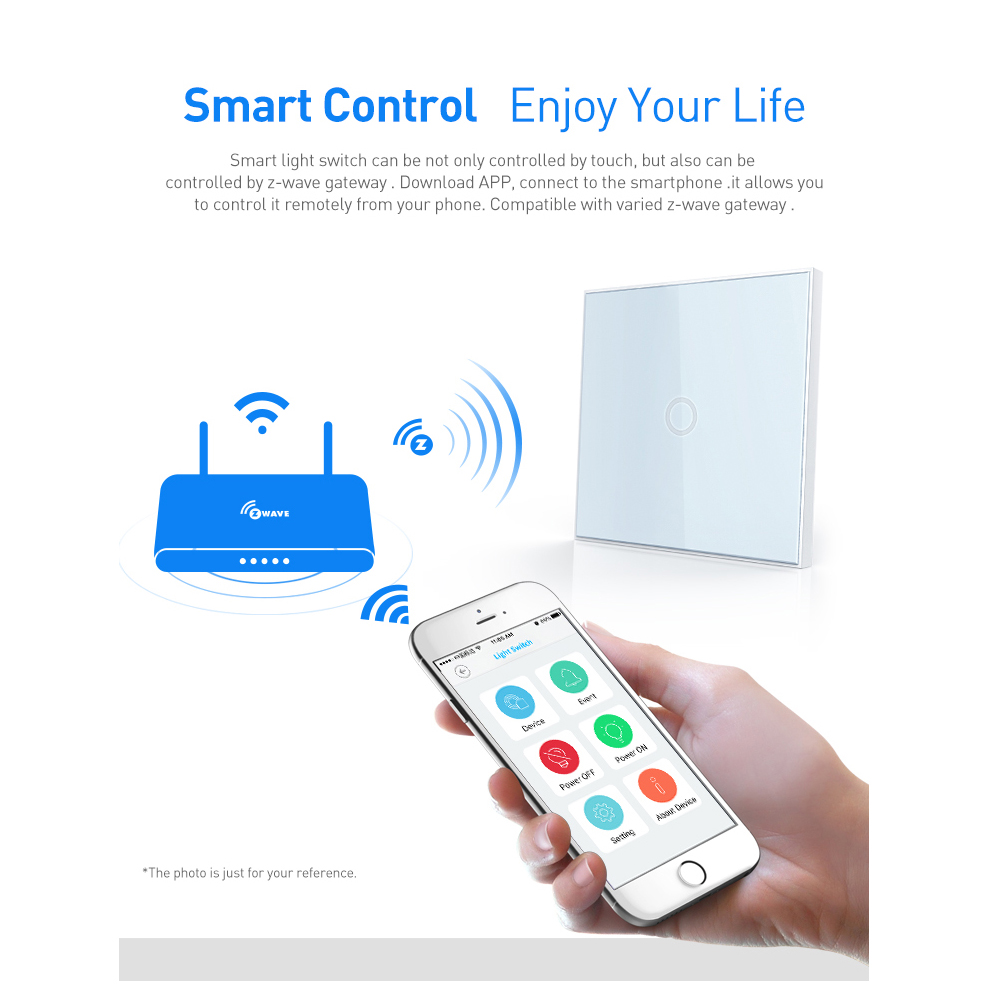 Neo Coolcam Z Wave Plus 1ch Eu Wall Light Switch Home Automation Because Smart Switches Require Both Hot And Neutral Zwave Wireless Remote Control In Building From Security