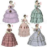 2016 customer made Pink Vintage Costumes Victorian Dress 1860s Civil War Southern Belle Gown Dress Lolita dresses US4 36 C 256