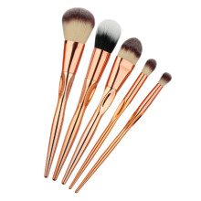 5PCS Heart Shape Rosegold Makeup Brush Set Pro Foundation Powder Contour Eyeshadow Blush Crease Brushing Brush Kits Makeup Tools