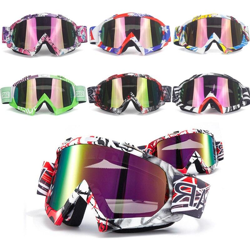 VIRTUE suaugusiųjų motociklo akiniai motociklai ATV akiniai ir kontaktiniai lęšiai spalvota lęšiai juoda rėminė slidės