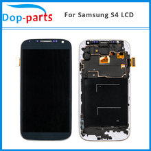50Pcs Wholesale For Samsung Galaxy S4 i9500 i9505 i9515 i337 LCD Display Touch Digitizer Screen+Frame Assembly Replacement цена