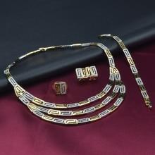 ФОТО multicolor multilayer women african jewelry sets gold silver patchwork elegant necklace bracelets jewellery bijoux femme 2018