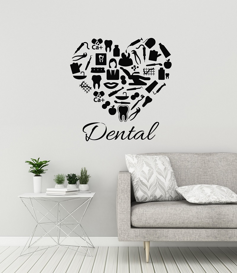 Dental Clinic Vinyl Wall Decal Dentist Dental Clinic Stomatology Sticker Dental Shop Decoration Detachable Quote Window DecalYC6-in Wall Stickers from Home & Garden