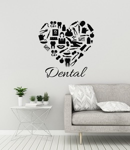 Image 1 - Dental Clinic Vinyl Wall Decal Dentist Dental Clinic Stomatology Sticker Dental Shop Decoration Detachable Quote Window DecalYC6