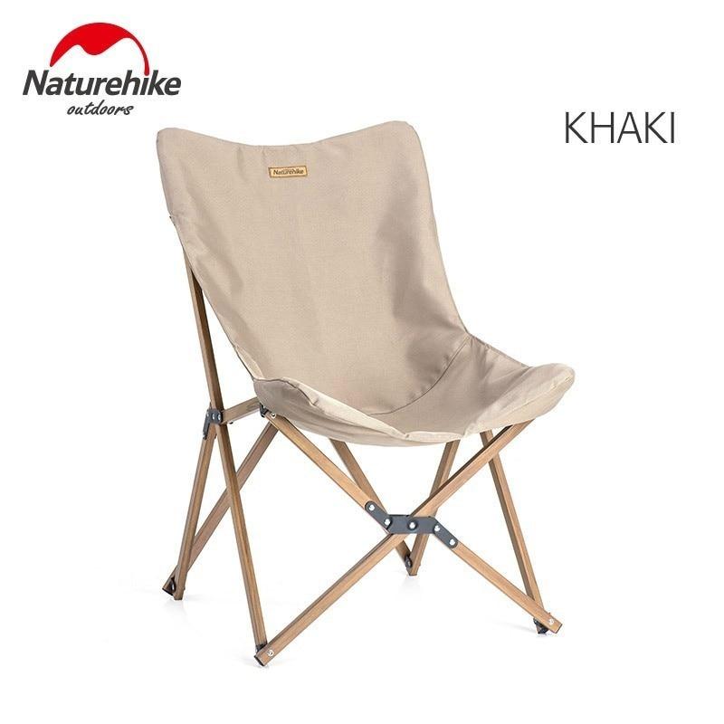 Naturehike деревянное рыболовное кресло может для офиса, кемпинга, светильник, деревянное зерно, кресло для сна, пляжное кресло, рыболовное, уличное, складное кресло - Цвет: Khaki