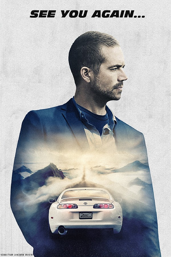 Us 437 19 Offdiy Frame Paul Walker Fast Furious 7 See You Again Hot Movie Wall Decor Posters Art Silk Fabric Poster Ddoie In Painting