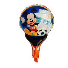 Mickey cartoon hand held Foil balloon Balloons Mickey printed handheld balloon toys for Kid Gift party layout(China)