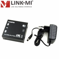 LINK MI LM SP142E HD4K2K 4Kx2K@60Hz ( YUV 4:2:0 ) 1x2 HDMI Splitter 2.0 HDCP EDID 15m(Maximum)over standard HDMI cable/26AWG