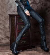 Black spring PU pant for girls 1 trousers slim for the ladies's leather-based pants excessive waist pants capris for girls