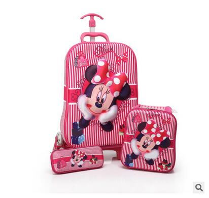 font b Kids b font Rolling Bag 3D stereo girl s Boy s trolley case