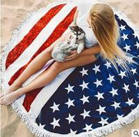 thin microfiber beach towel round printed floral yoga mat cloth lady holiday mat rug