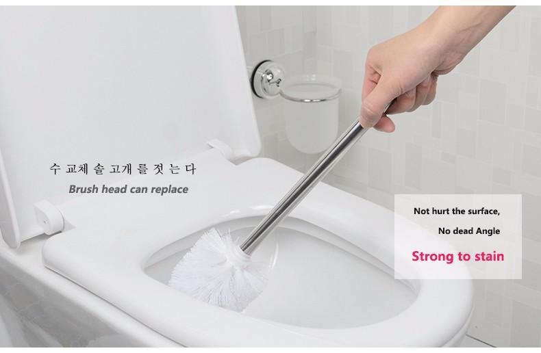 Toilet Brush Head : Dehub creative suction cup super suction cup toilet brush holder