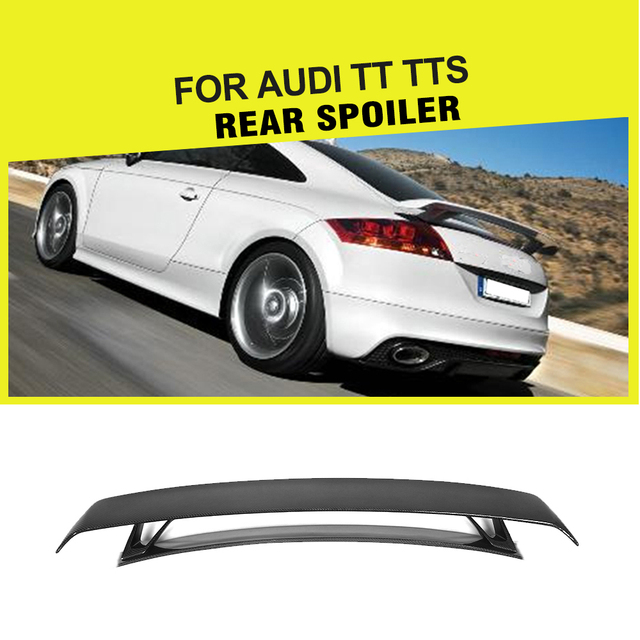 Carbon Fiber Frp Car Styling Rear Trunk Boot Tail Spoiler Double Deck Wing For Audi Tt Mk2 8j Tts Coupe 2 Door 2008 2017
