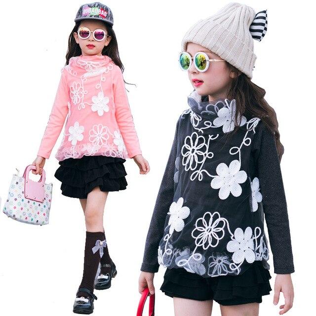 eb26655bf 2018 de los niños de invierno ropa niñas suéteres de lana espesa de cuello  alto bebé