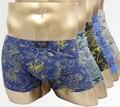 Ultra-thin men underwear masculina seamless underwear boxeadores ice tela suave como la seda fresca sensación de verano calzoncillos gay calzoncillos