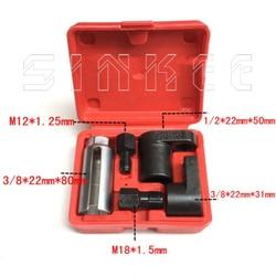 5 Buah 22 Mm Oksigen Vacuum Lambda Sensor Menghapus Kunci Soket Set Kit Benang Pemburu Spark Plug Mobil Alat SK1205