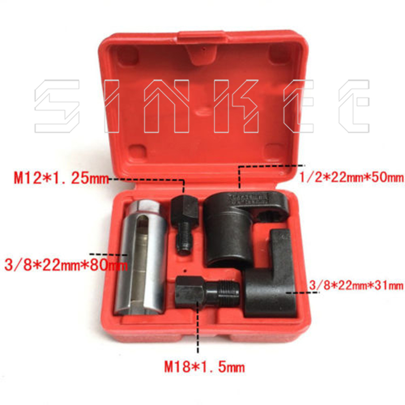 5 PC 22mm Oxygen Vacuum Lambda Sensor Remove Socket Set Kit Thread Chasers  Spark Plug Car Tools SK1205
