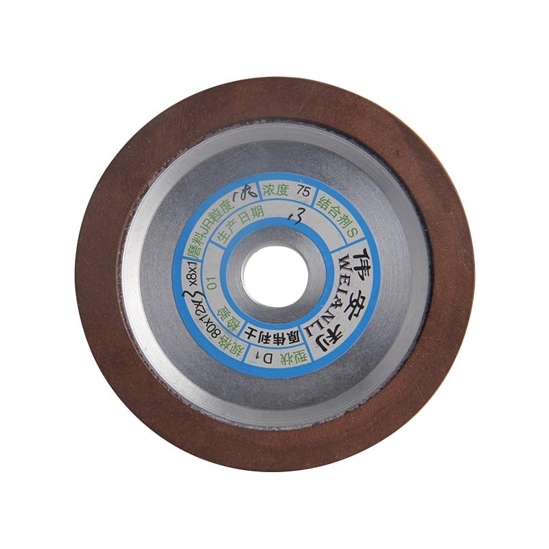 Rodas de Moagem Grão para Fresa Diamante Prato Moagem Rodas 150 – 180 240 320 Ferramenta Acessórios 80mm