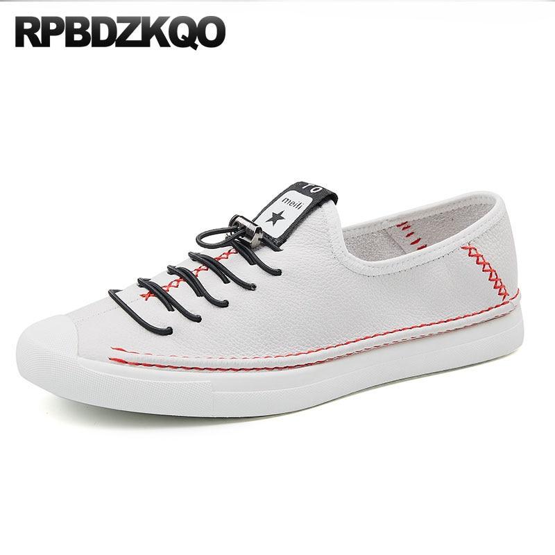 Italienische Europäischen Marken Trainer Wohnungen Deluxe Männer Runway Luxury Hohe Weiß Schwarzes Turnschuhe Real Skate Schuhe Qualität Leder weiß Echtes Cq1Z55
