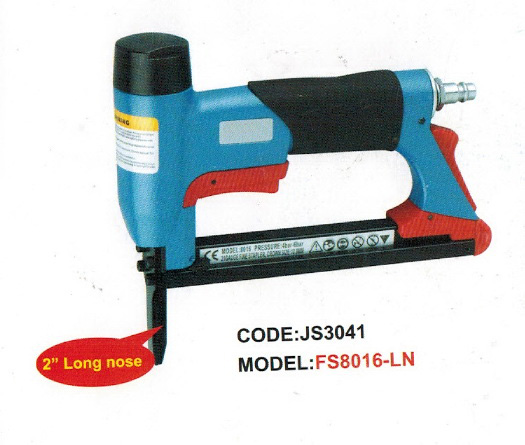 Long nose air stapler FS8016-LN 1/2 pneumatic fine crown stapler, U style nail, length of nail:6-16mm 4-6BAR 60-100psi meite air tools mtc600 1 2 14ga wide crown 60 5mm pneumatic c ring gun hog combination pliers for big wire cage june 20 update