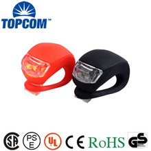 Silicone bicycle Front Light and back light red LED Head Front Rear Wheel Bike Light With Battery Bicycle Accessories Bike Lamp