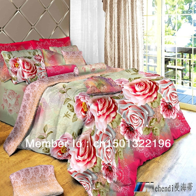 The supply of oil painting activity of 3D cotton bedding set of four textile printing of cotton four set