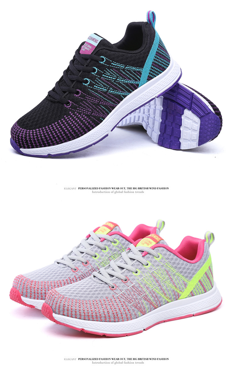 18 Women Breathable mesh Casual shoes Woman Flat platform shoes Air damping fashion zapatillas mujer casual tenis feminino 6