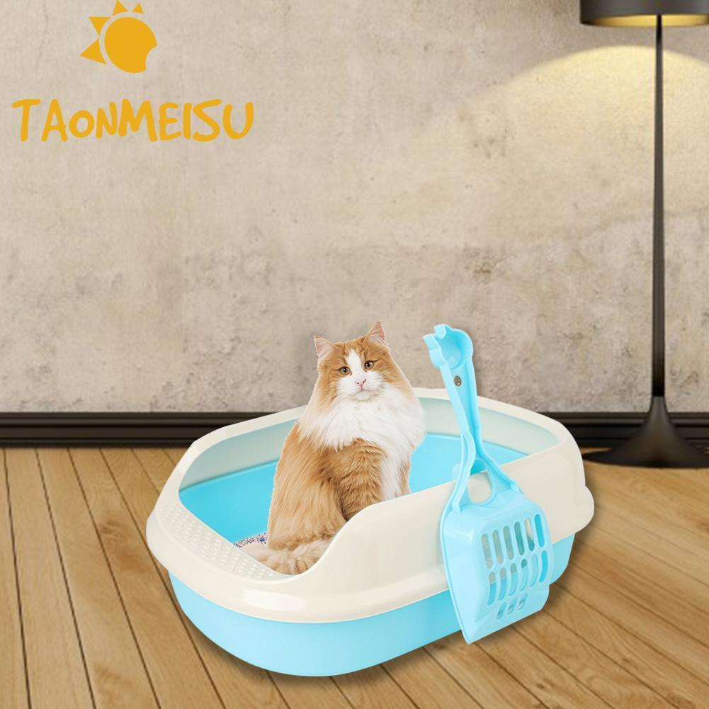 Hot Sale Plastic Cat Toilet Trainer Crack-proof Bottom Polyester Cat Litter Box Shatter-resistant Anti-breaking Cat Toilet