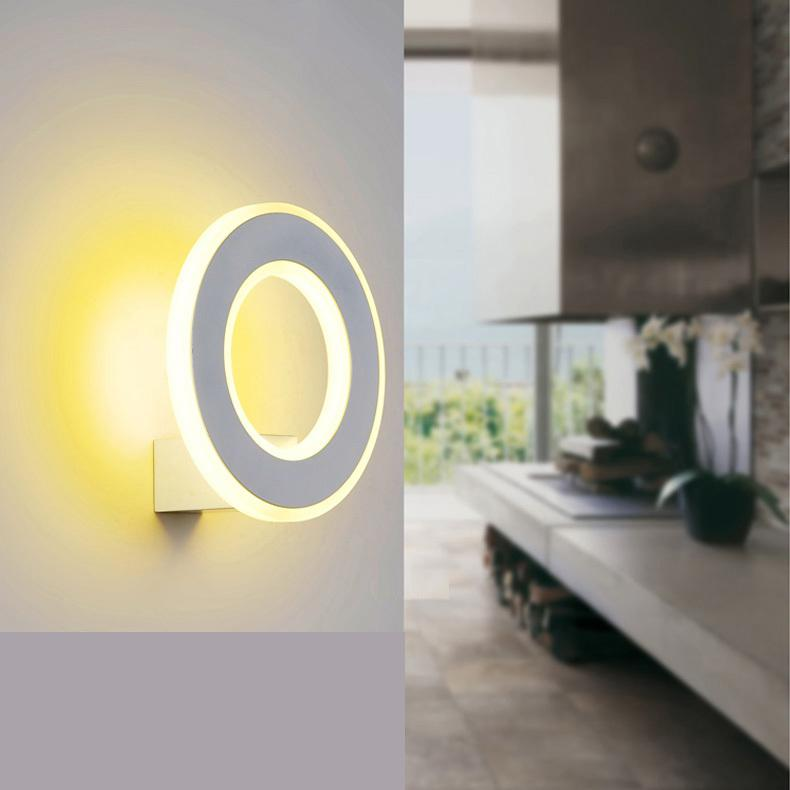 Makeup LED Round indoor wall lamp post modern ring wall lights led wall sconces bedroom bathroom mirror aisle light luminaria led mirror wall lamp modern luxurious crystal wall lamp chrome aisle hallway wall sconces bedroom bathroom light lustre sconce