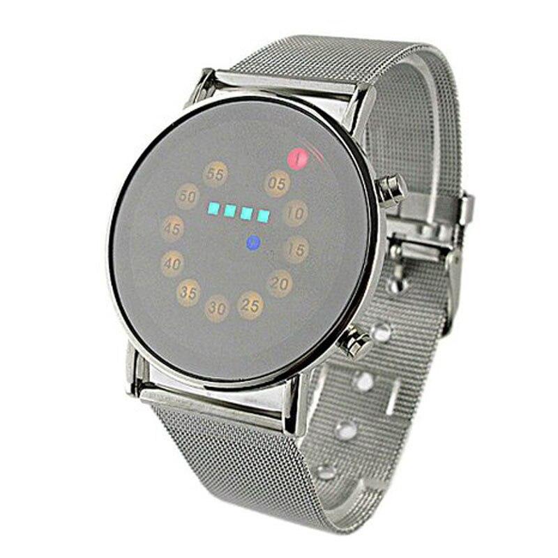 Gofuly светодиодный свет Нержавеющаясталь модные наручные часы Прямая доставка