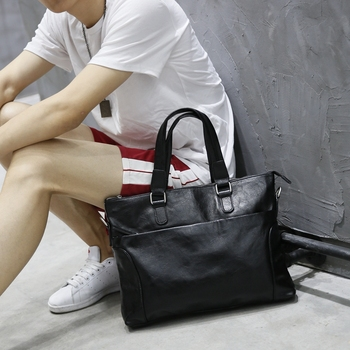 Black Fashion laptop bag for macbook air 13 inch,leather briefcase computer bag,Tote bag laptop backpack business
