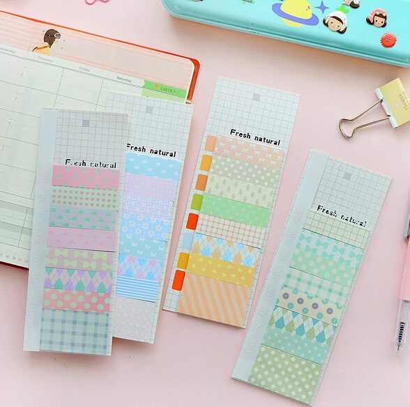 1 Pcs/lot New Fresh Natural Postoral Style Sticky Notepad Note Memo Message Post Writing scratch pad marker label